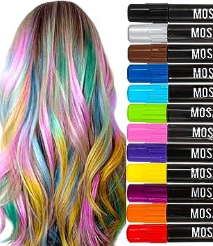 Amazon washable hair chalk pens set 12 including natural washable hair chalk pens set 12 including natural colors kit all hair temporary hair dye solutioingenieria Images