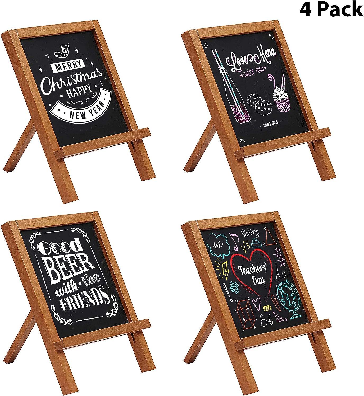 10 Pack Mini Kreidetafel Aufsteller 10 x 10cm Holz Tafel Set ...