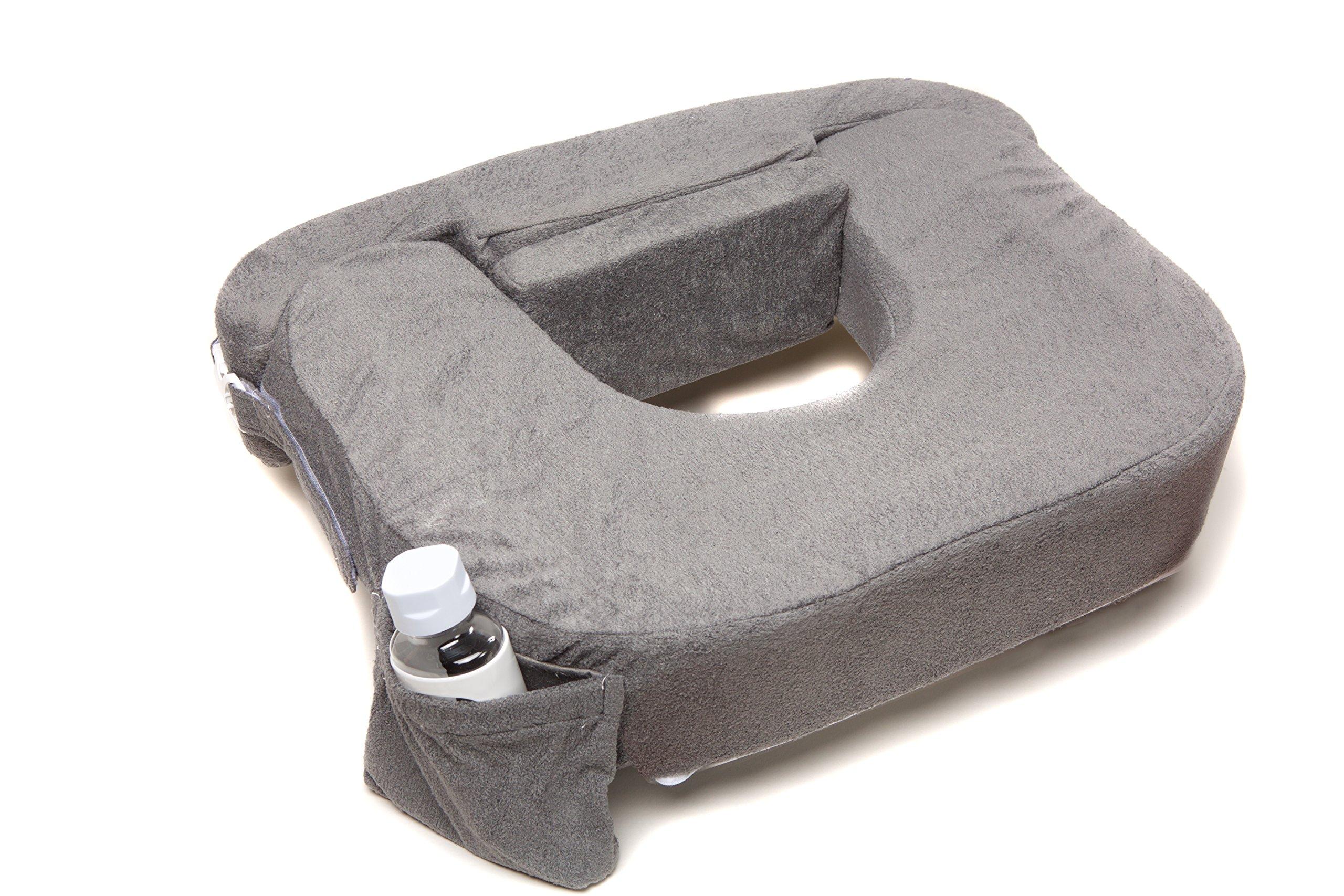 My Brest Friend Supportive Nursing Pillow for Twins 0-12 Months, Plus-Size, Dark Grey by My Brest Friend