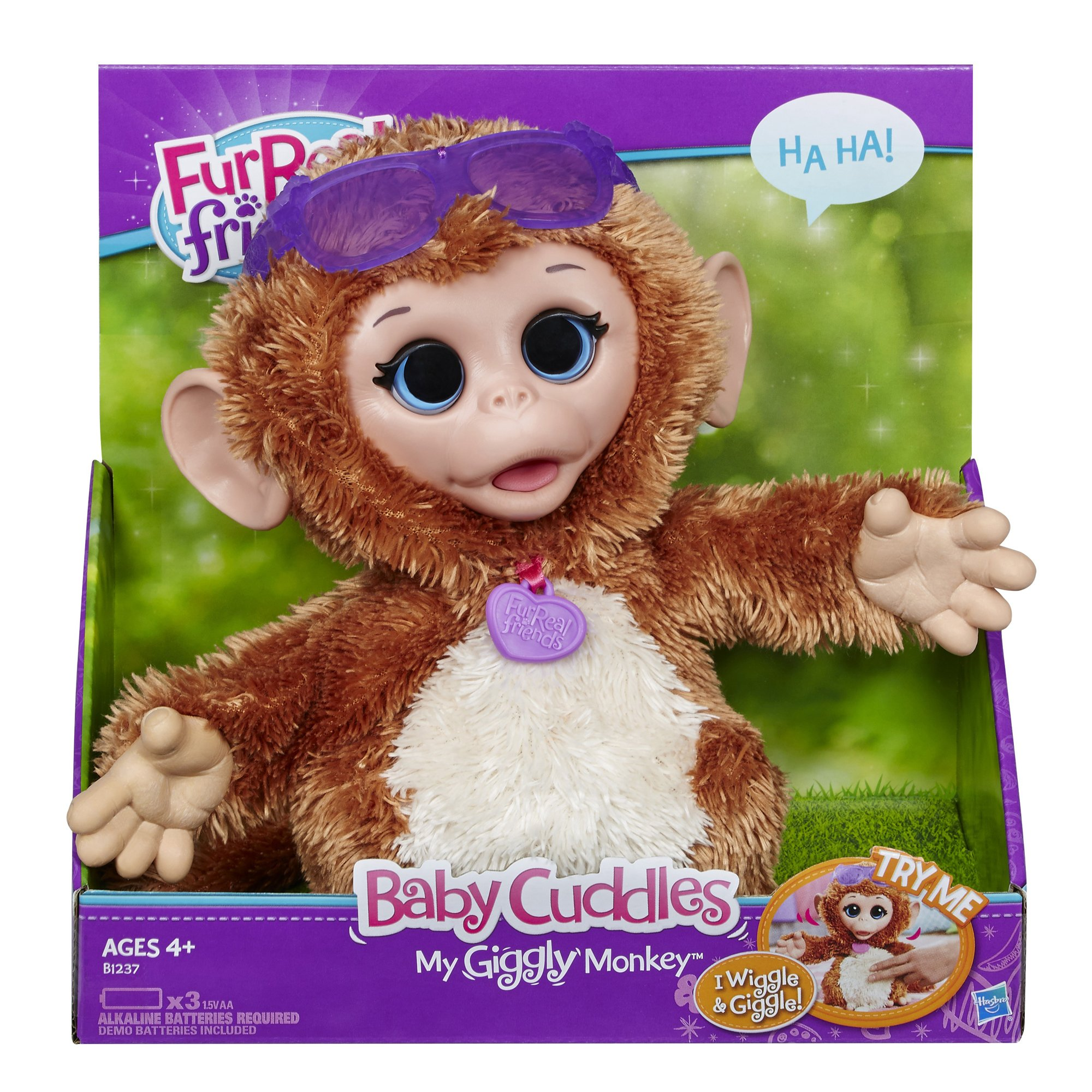 FurReal Friends Baby Cuddles My Giggly Monkey Pet Plush by FurReal (Image #2)