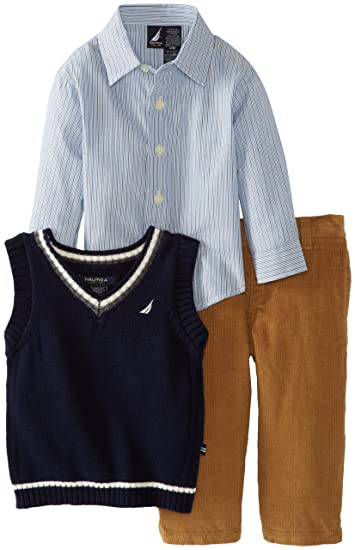 a042af458 Image Unavailable. Image not available for. Color: Nautica Baby Boys'  Sweater Vest Set ...