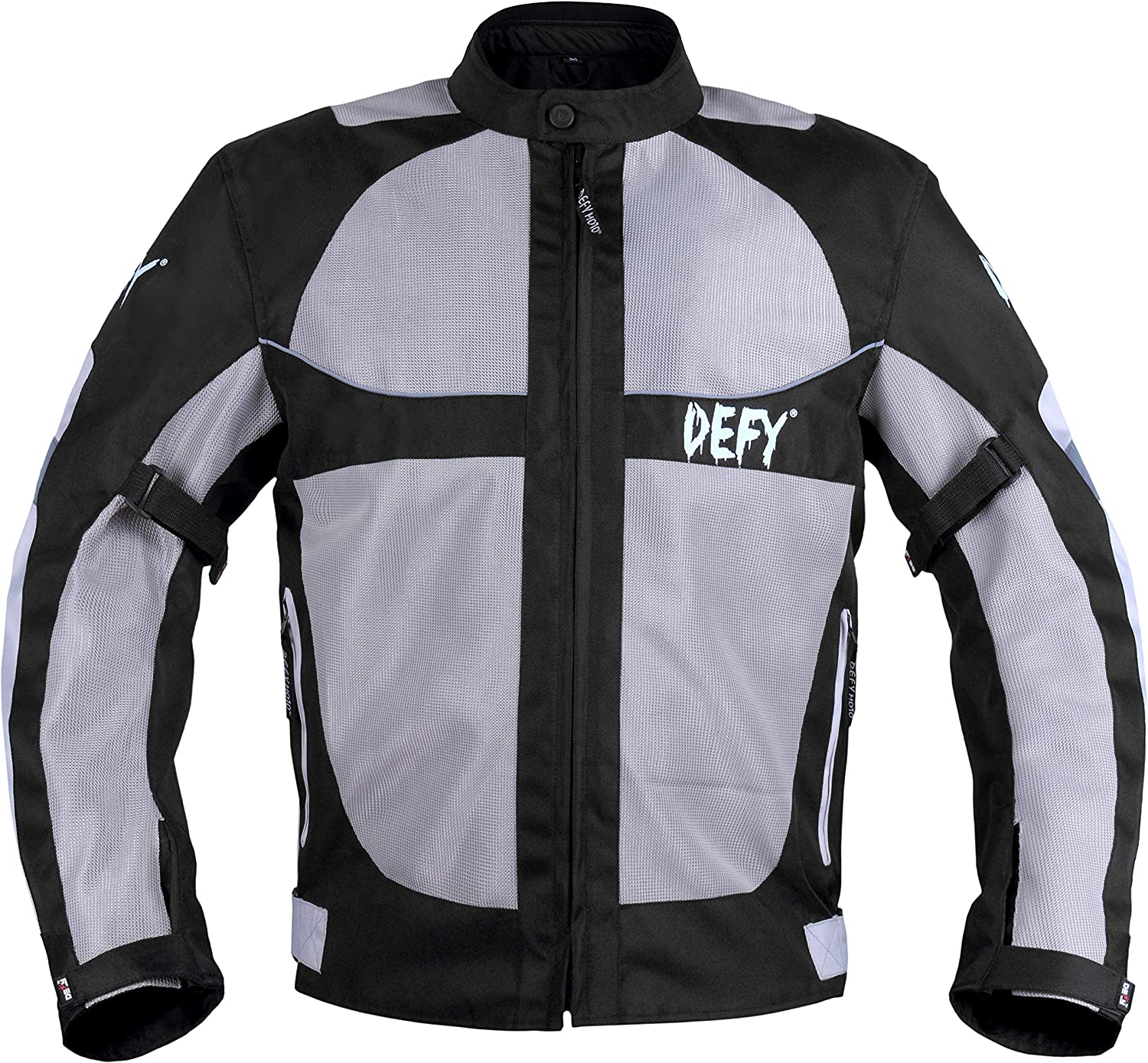 Red, XL DEFY Motorcycle Jackets for Men/'s Mesh Durable CE Armoured Summer Motorcycle Jacket