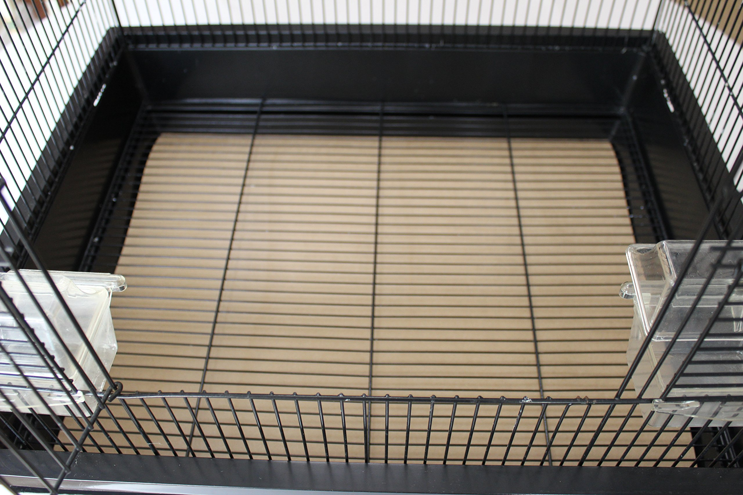 BirdCageLiners - Medium Size Cages - Custom Size - 100 Pre-Cut Sheets - 60 Pound Paper