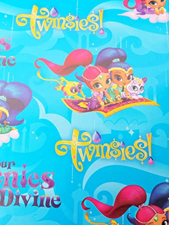 Amazon.com: Papel de regalo Shimmer and Shine para fiestas ...