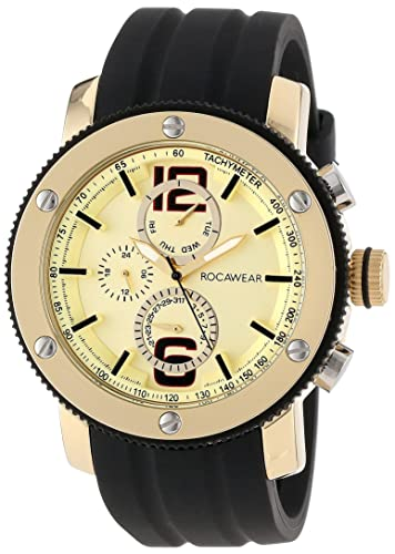 Buy Rocawear Mens Rm0116t1 011 Stylish Bracelet Enamel Bezel Watch