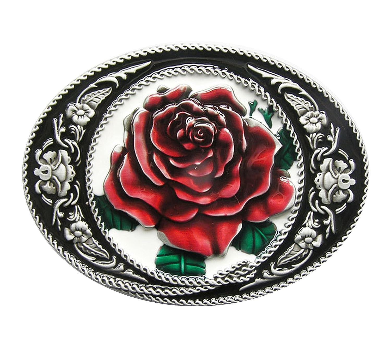 G/ürtelschnalle Western Rose Cowboy Blume 3D Optik f/ür Wechselg/ürtel G/ürtel Schnalle Buckle Modell 170 Schnalle123
