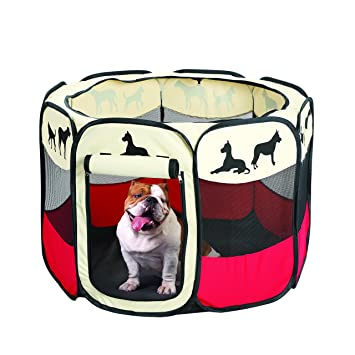 Etna Pet Portable Foldable Play Pen, Indoor/Outdoor, Dog/Cat/Puppy