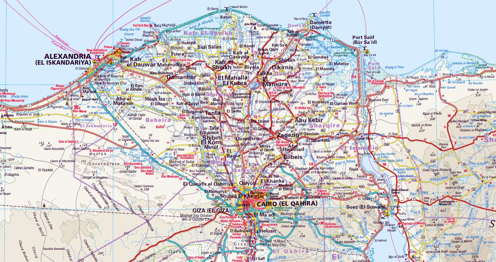 Peru Karte Mit Höhenangaben.Reise Know How Landkarte ägypten 1 1 125 000 World Mapping Project