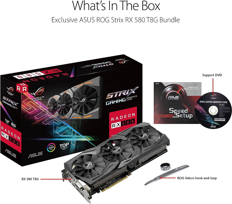 DUAL-RX580-O8G ASUS Radeon RX 580 8GB Dual-Fan OC Edition GDDR5 DP HDMI DVI VR Ready AMD Graphics Card