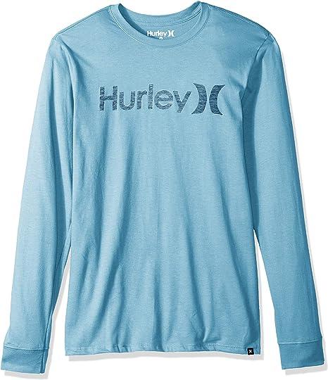 Hurley Mens One /& Only Push Thru Graphic Long Sleeve Tee Shirt
