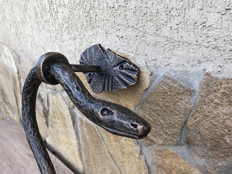door pull snake door knocker snake lover Snake door handle shed door handle snake decor barn door pull iron snake barn door handle