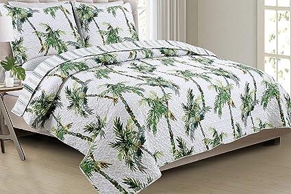 Amazon Com Panama Jack Palm Tree Paradise Quilt Set Full Queen