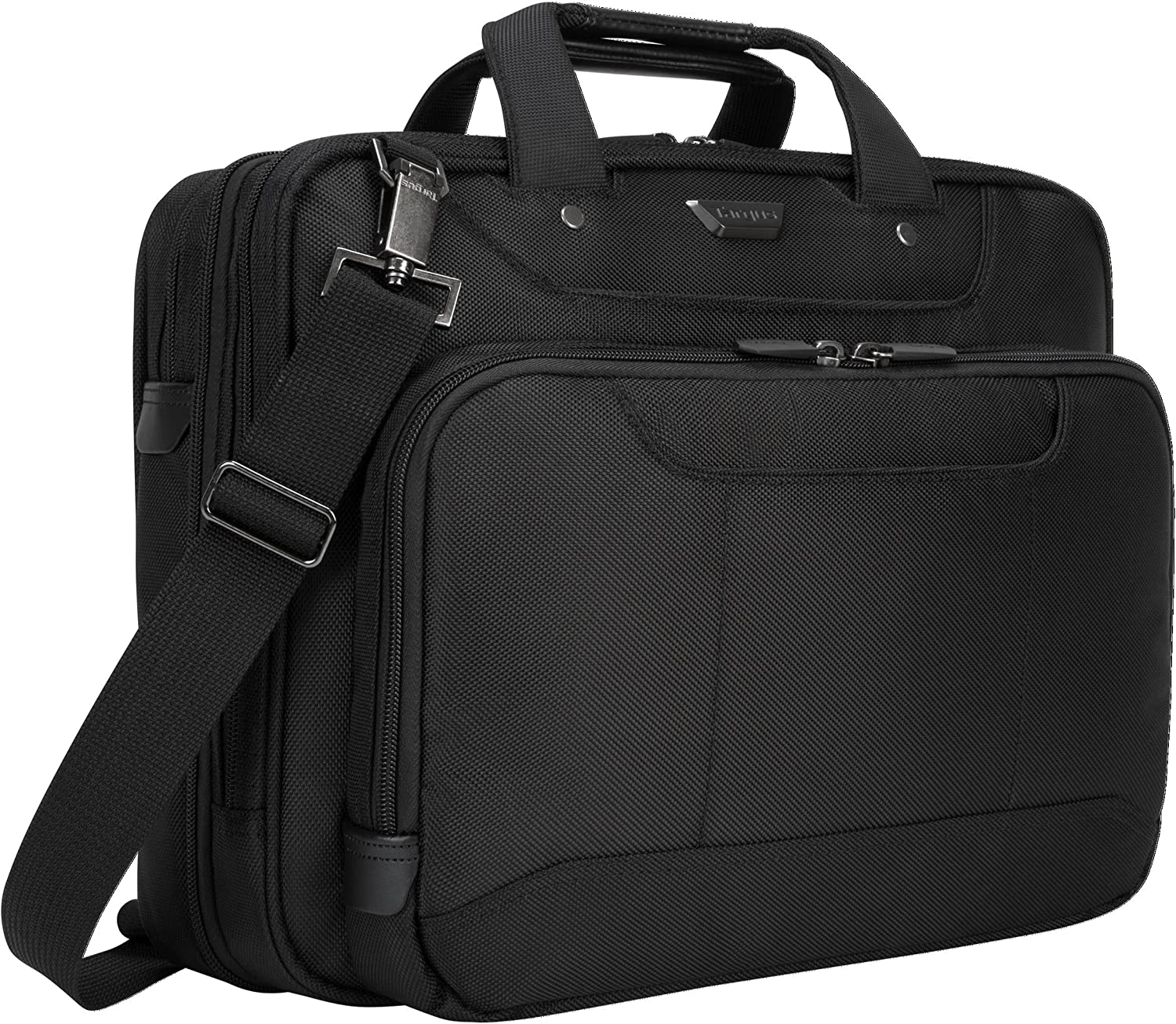 Targus Corporate Traveler Laptop Briefcase for Slim Commute, TSA Security Checkpoint Friendly, File Section and Compartment Organizer, SafePort Protection fits 14-Inch Laptop, Black (CUCT02UA14S)
