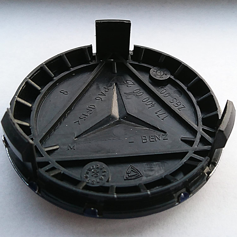 75 mm Alu-Nabenkappe f/ür Mercedes Benz