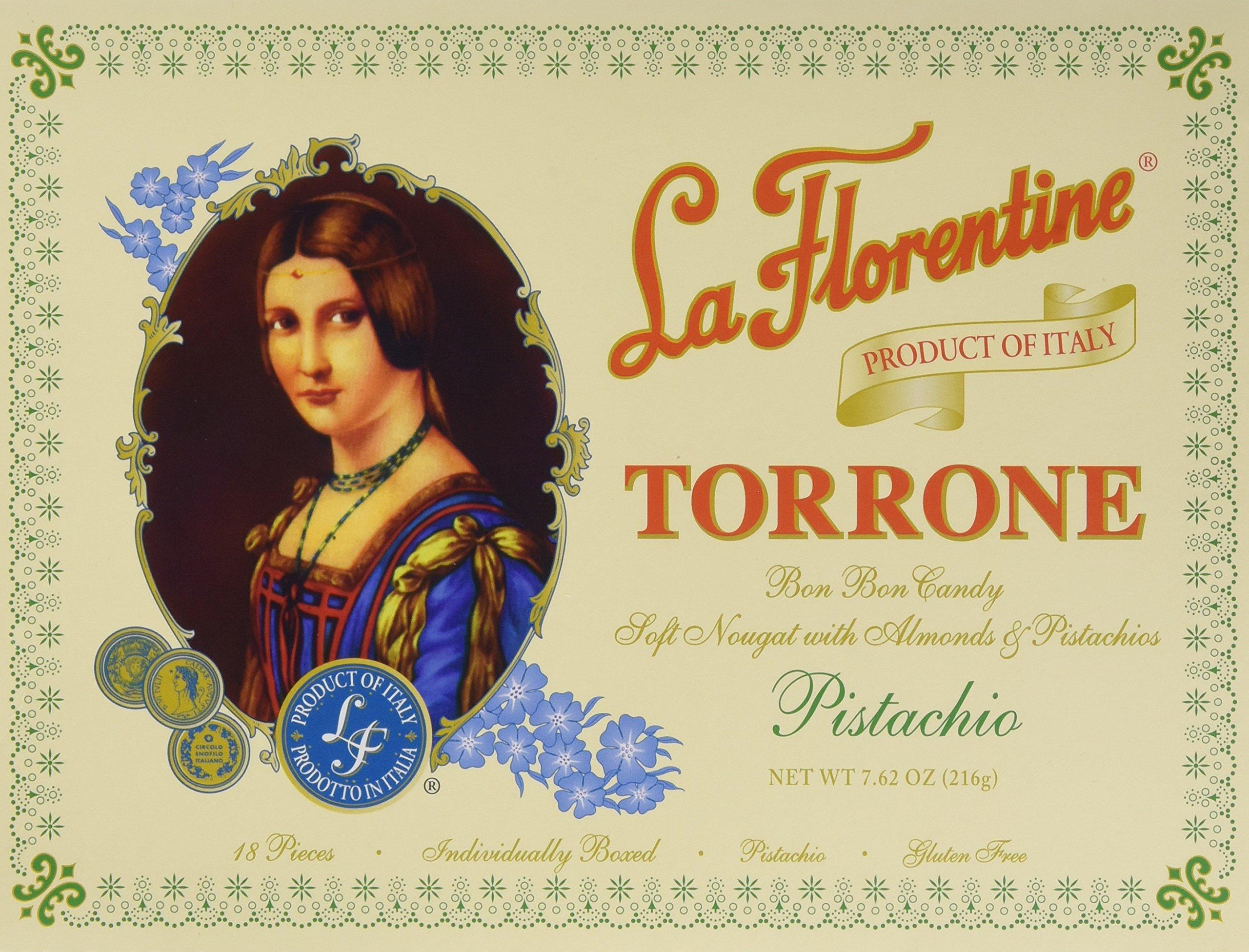 La Florentine Pistachio Torrone, 7.62 Ounce by La Florentine