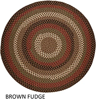 product image for Rhody Rug Jamestown Indoor/Outdoor Braided Rug Brown Fudge 4' Round Reversible 4' Round Indoor Round