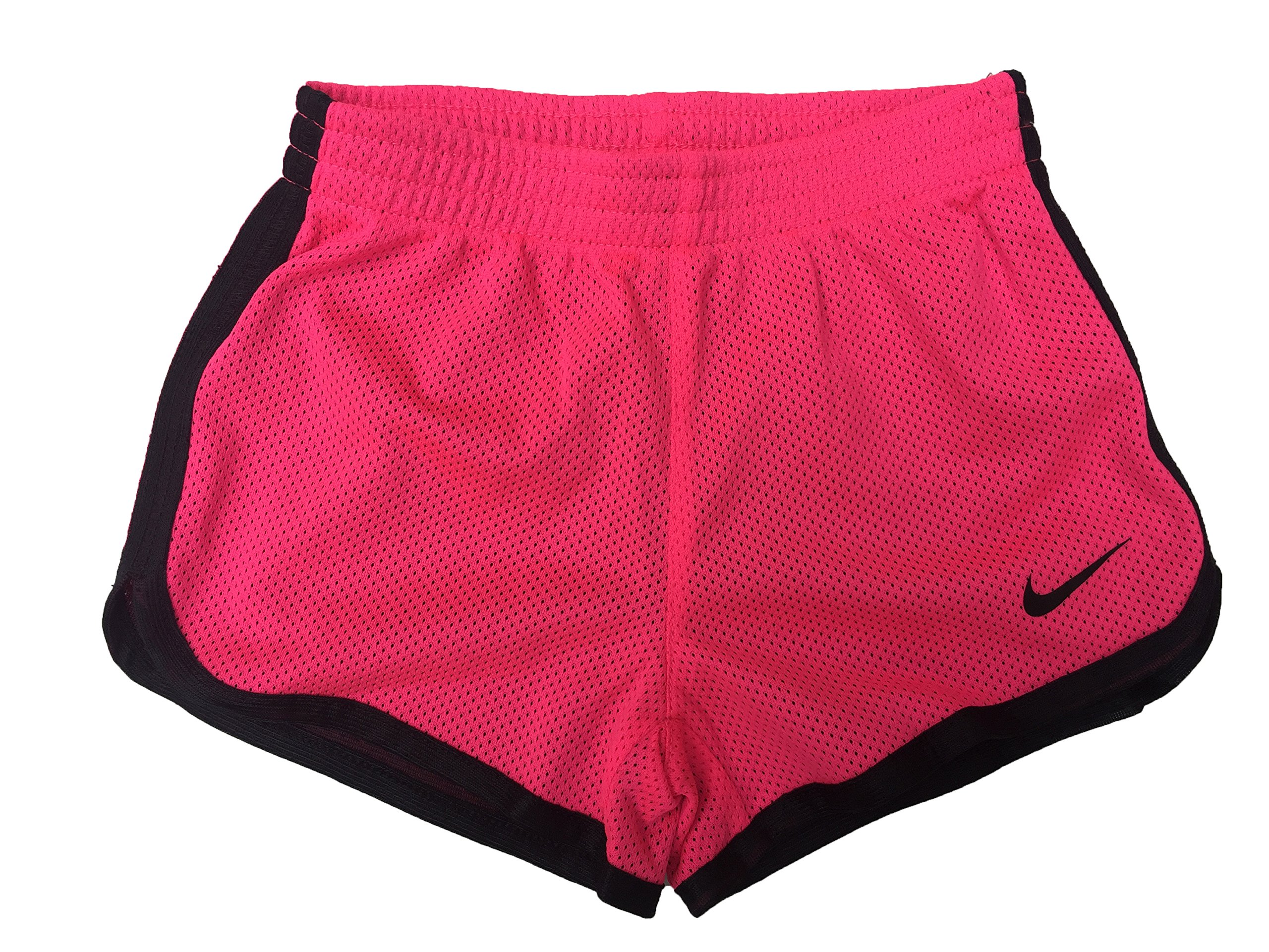 Nike Little Girls Tempo Shorts (3T Toddler, Vivid Pink (A96) / Black/Solid Black)