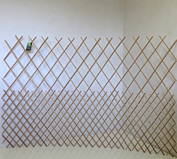 Master Garden Products Peeled Willow Top Open Pattern Lattice Fence, 72 By  48 Inch