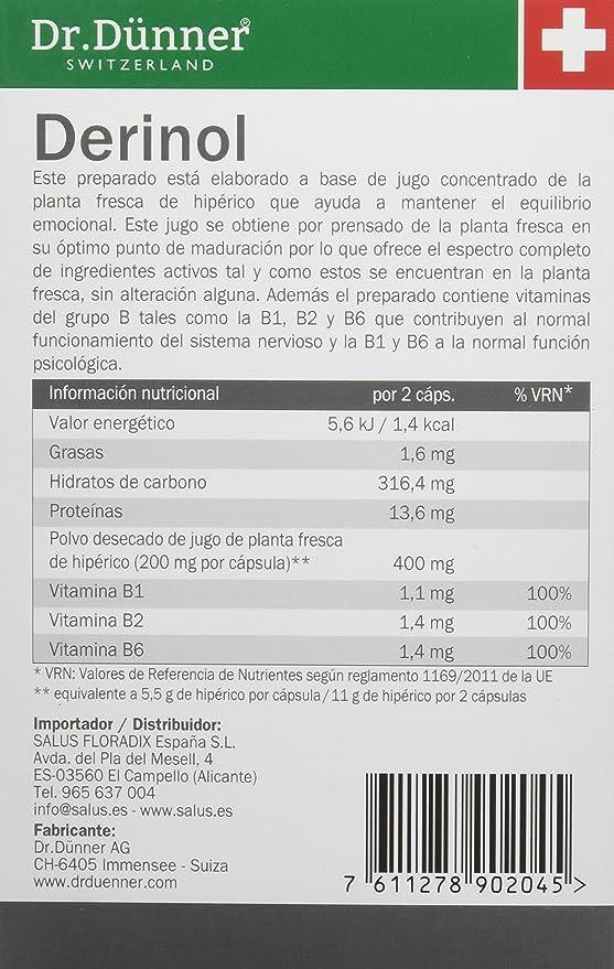 Dr. Dünner, Capsulas del Hiperico y Vitaminas del grupo B, 40 capsulas: Amazon.es: Salud y cuidado personal