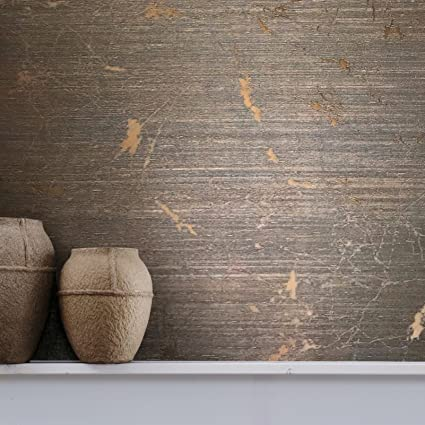 76 Sqft Rolls Portofino Textured Italian Wallcoverings Modern Embossed Vinyl Wallpaper Copper Metallic Faux