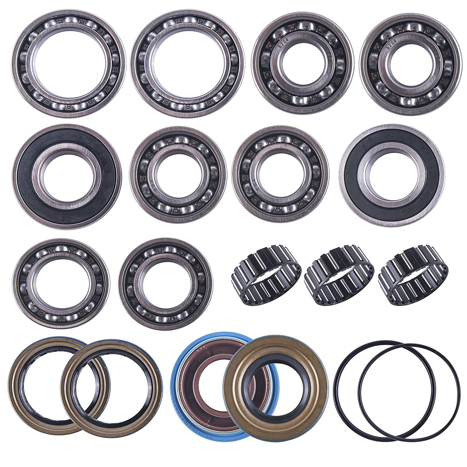 East Lake Axle rear differential bearing /& seal kit compatible with Polaris Sportsman 400//500 2001 2002-2010