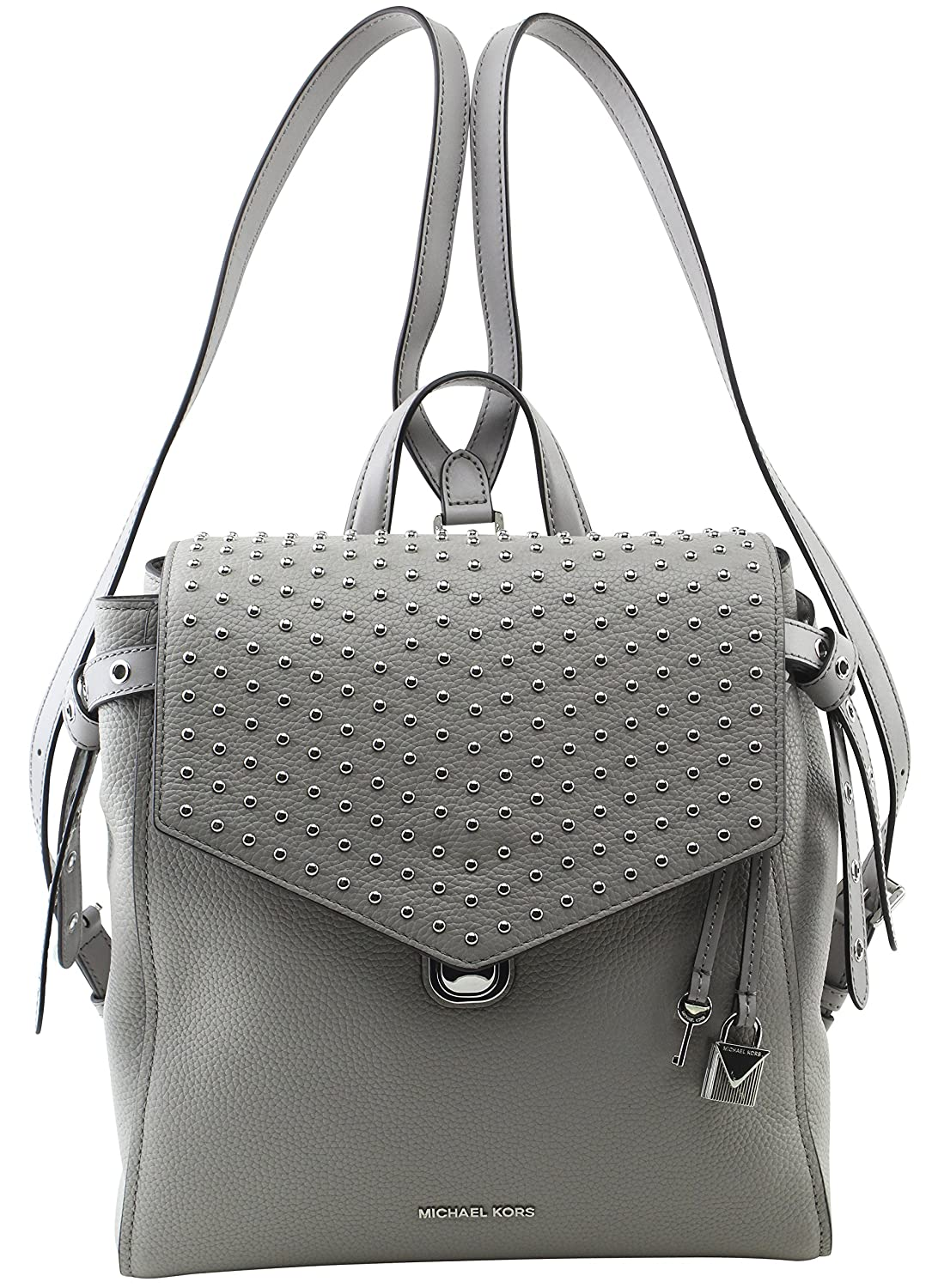 bcd5daf39765 MICHAEL Michael Kors Women s Bristol Medium Studded Leather Backpack in Pearl  Grey  Amazon.co.uk  Shoes   Bags