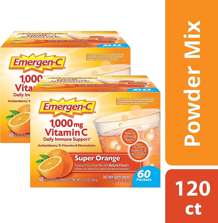 Amazon.com: Emergen-C Super Orange Suplemento dietético ...