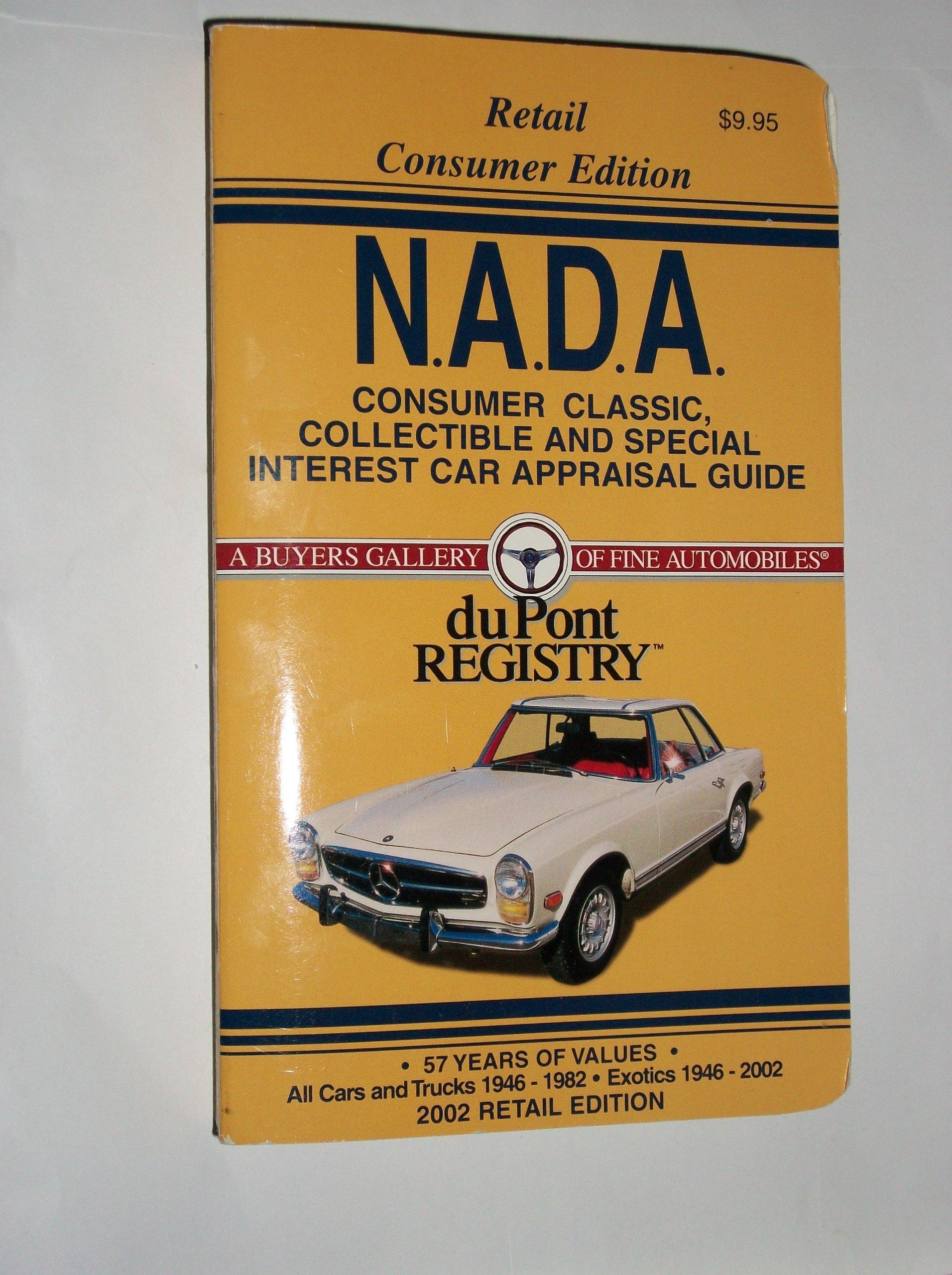 Nada Classic Car Value >> Nada Consumer Classic Car Appraisal Guide 2002 Nada Classic