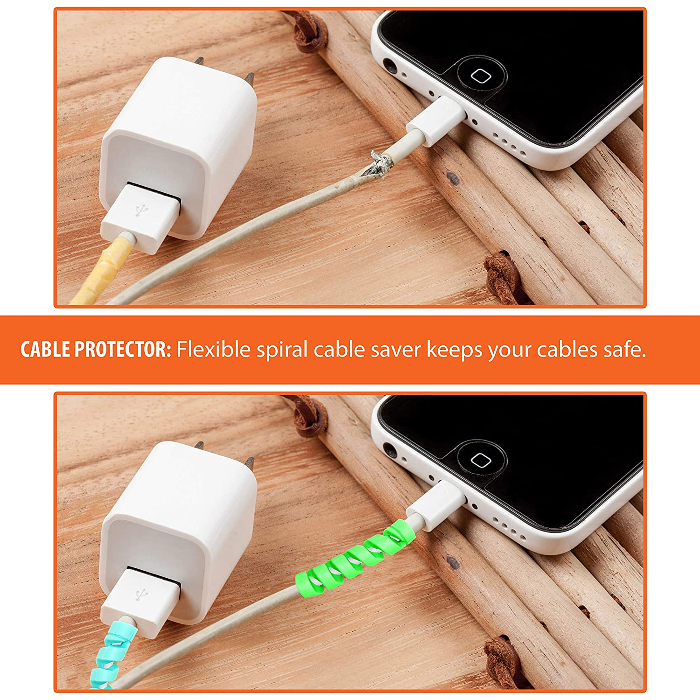 Amazon.com: 15 piezas 5 colores surtidos flexible cable de ...