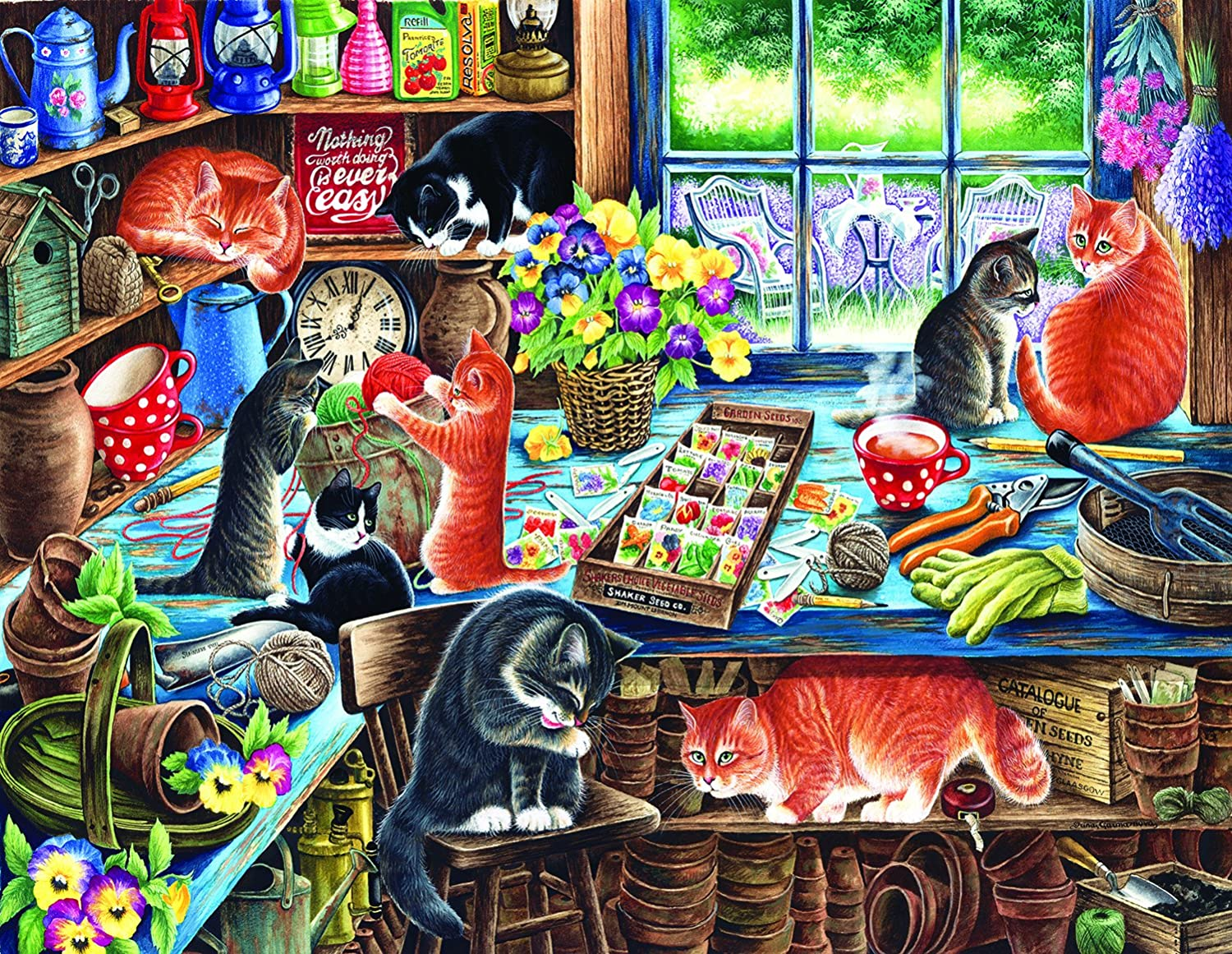 in a Garden Shed 1000 PieceLarge Jigsaw Puzzle by SunsOut
