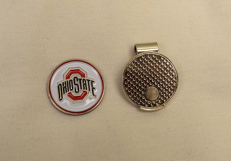 NCAA Ohio State大学ゴルフボールマーカーwith磁気帽子クリップ   B072YHDQPR