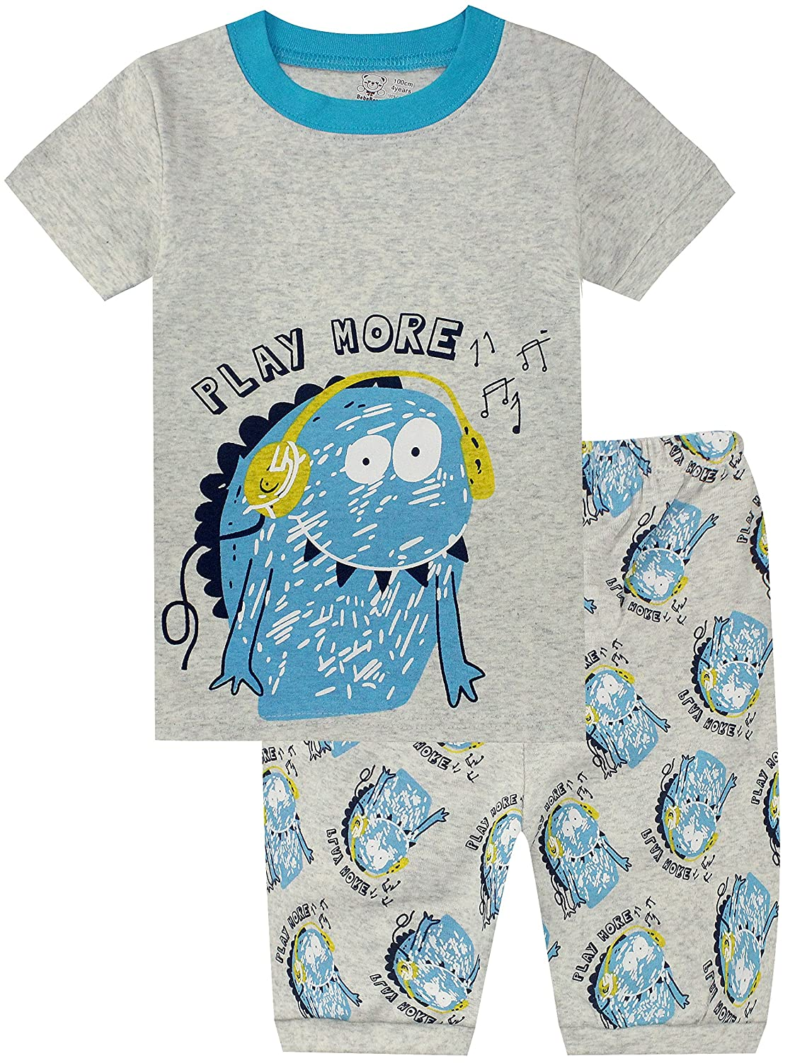 Halloween Pajamas for Boys Glow in The Dark Children Skeleton Clothes Kids Pants Set