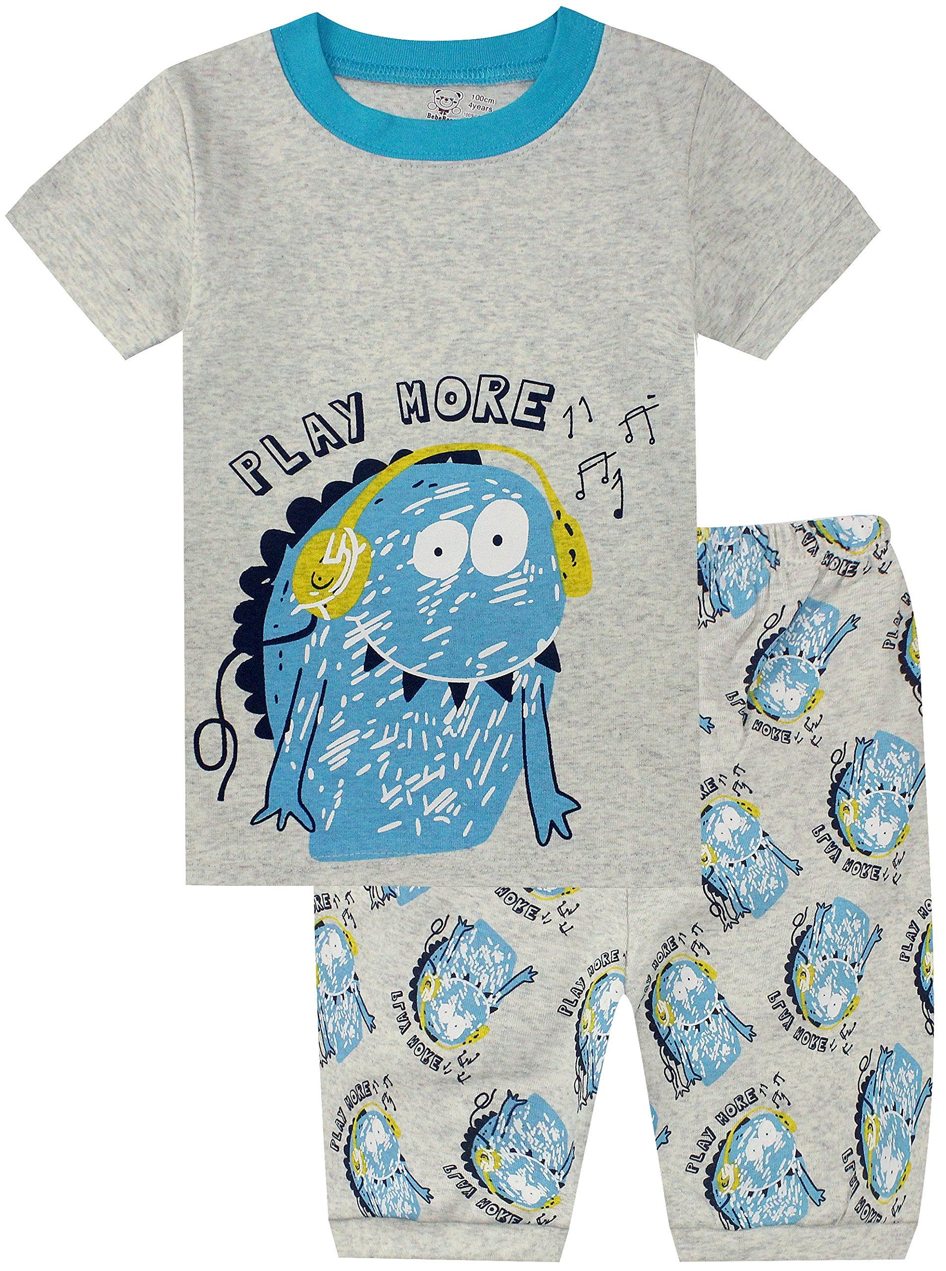 BebeBear Boys Pajamas Pants 2-Piece Toddler Shorts PJS 100% Cotton Clothes Set