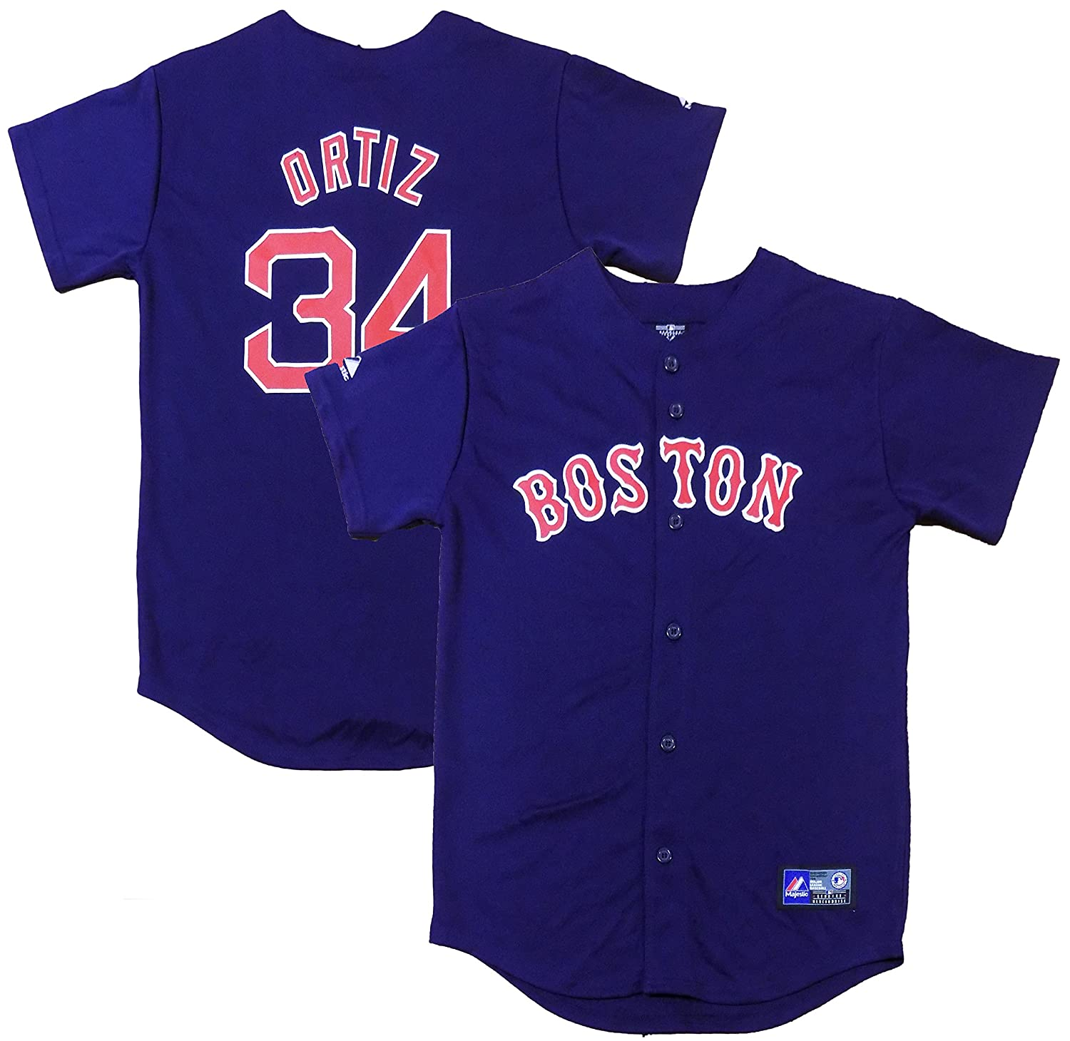official photos 77bb3 1c1c3 OuterStuff David Ortiz Boston Red Sox Navy Blue Youth ...