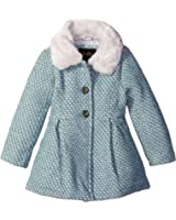 Jessica Simpson Girls' Single Breasted Wool Coat with Bow Back