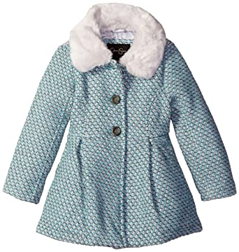 10a36dd61b11 Amazon.com  Jessica Simpson Girls  Single Breasted Wool Coat with ...