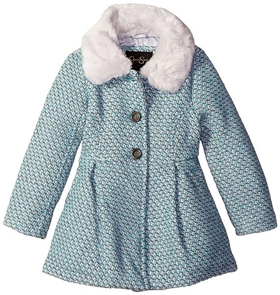 Amazon.com: Jessica Simpson las niñas chamarra de lana único ...