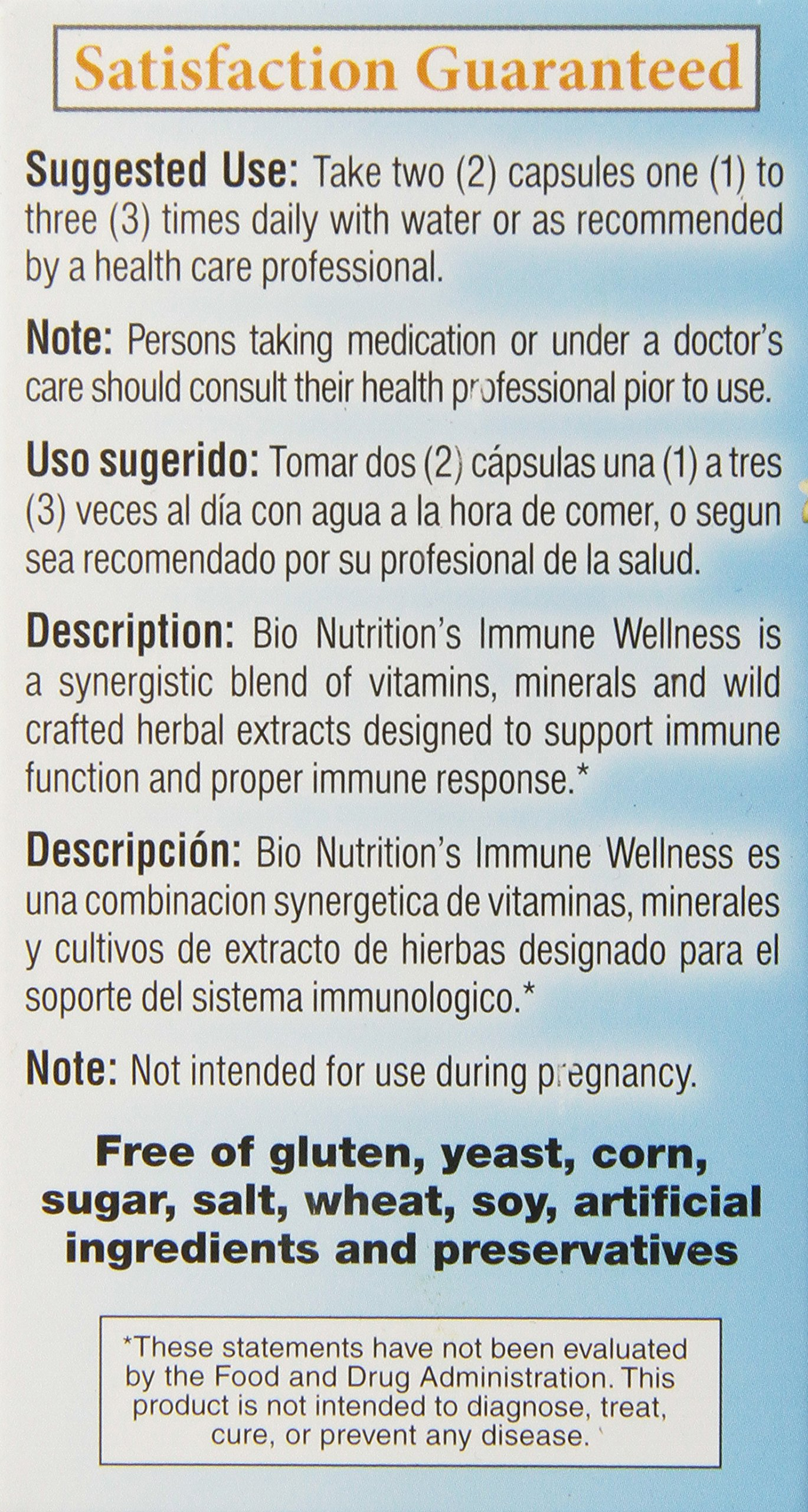 Bio Nutrition Immune Wellness Olive and Oregano Vegi-Caps, 60 Count by Bio Nutrition (Image #4)