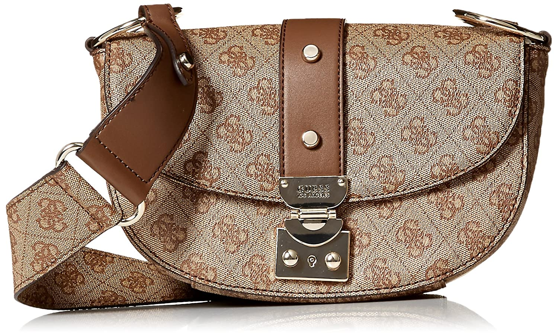 GUESS Florence Shoulder Bag BRO, Brown  Handbags  Amazon.com 5ab5ec7486