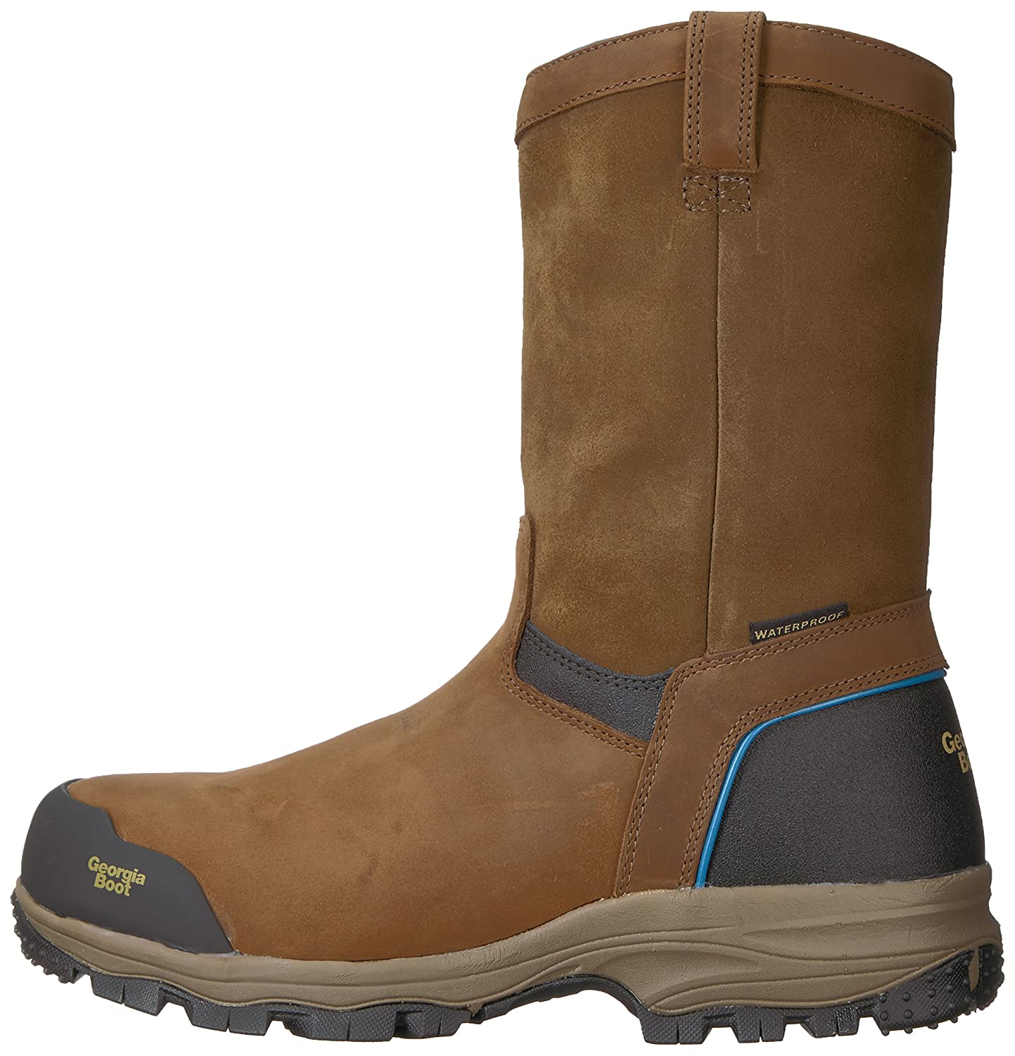 Georgia GB00105 Mid Calf US|Dark Boot B01F7ORWB8 9 W US|Dark Calf Brown d490f4