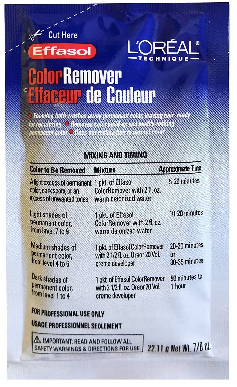 L'OREAL Effasol Color Remover 0.86oz/22.11g (Quantity: 1 Application) by L'Oreal L' Oreal