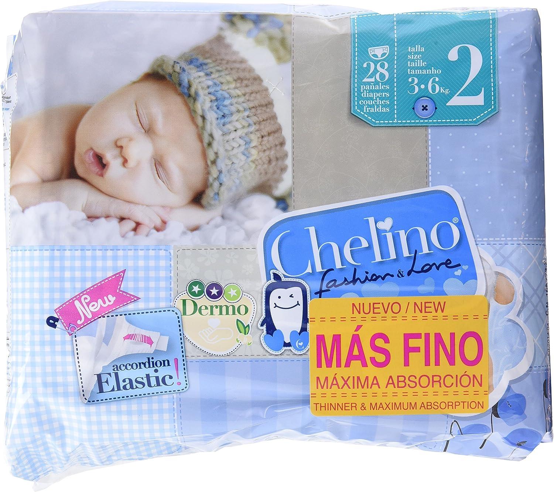 Chelino - Pañales talla 2 (3 28 Pañales - Pack de 6 (Total 168 ...