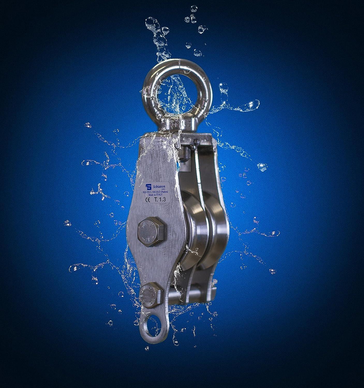 Inoxydable Poulie Bloc Marine 1,3 Ton Schiavon Forniture Navali