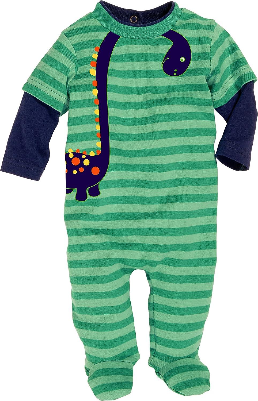 Schnizler Unisex Baby Schlafstrampler Schlafanzug Dino, Oeko Tex Standard 100 Gr. 50 Grün (grün 29) Playshoes GmbH 811802