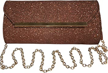 1b0aea281a4 Spice Art Women's Shimmer Copper Leatherite Metal Fitting Elegant Clutch  for Ladies