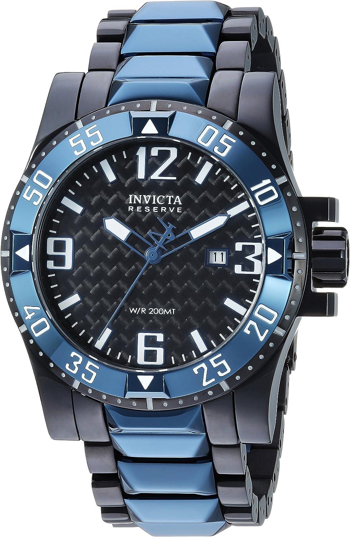 Invicta Men s Reserve Quartz Watch with Stainless-Steel Strap, Black, 26 Model 25064