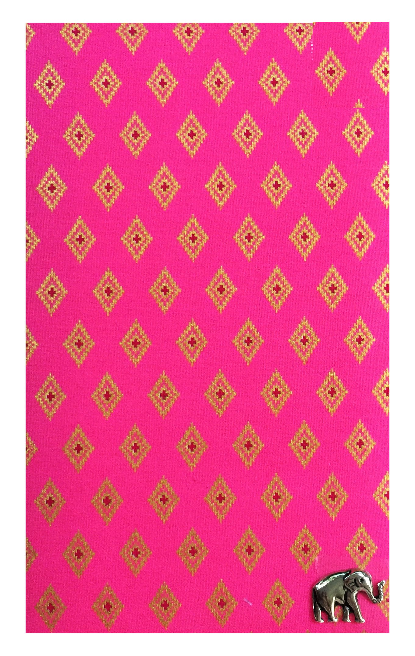 Pink & Gold Thai Pattern Guest Check Presenter for Restaurant, Check Book Holder & Cover, Waitstaff Organizer, Server Book for Waitress with Money Pocket, Check Pad Holder U by Kathy