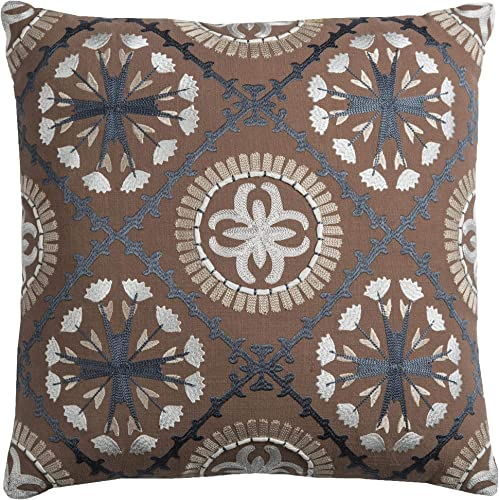 Rizzy Home T09667 Decorative Pillow, 18 X18 , Brown