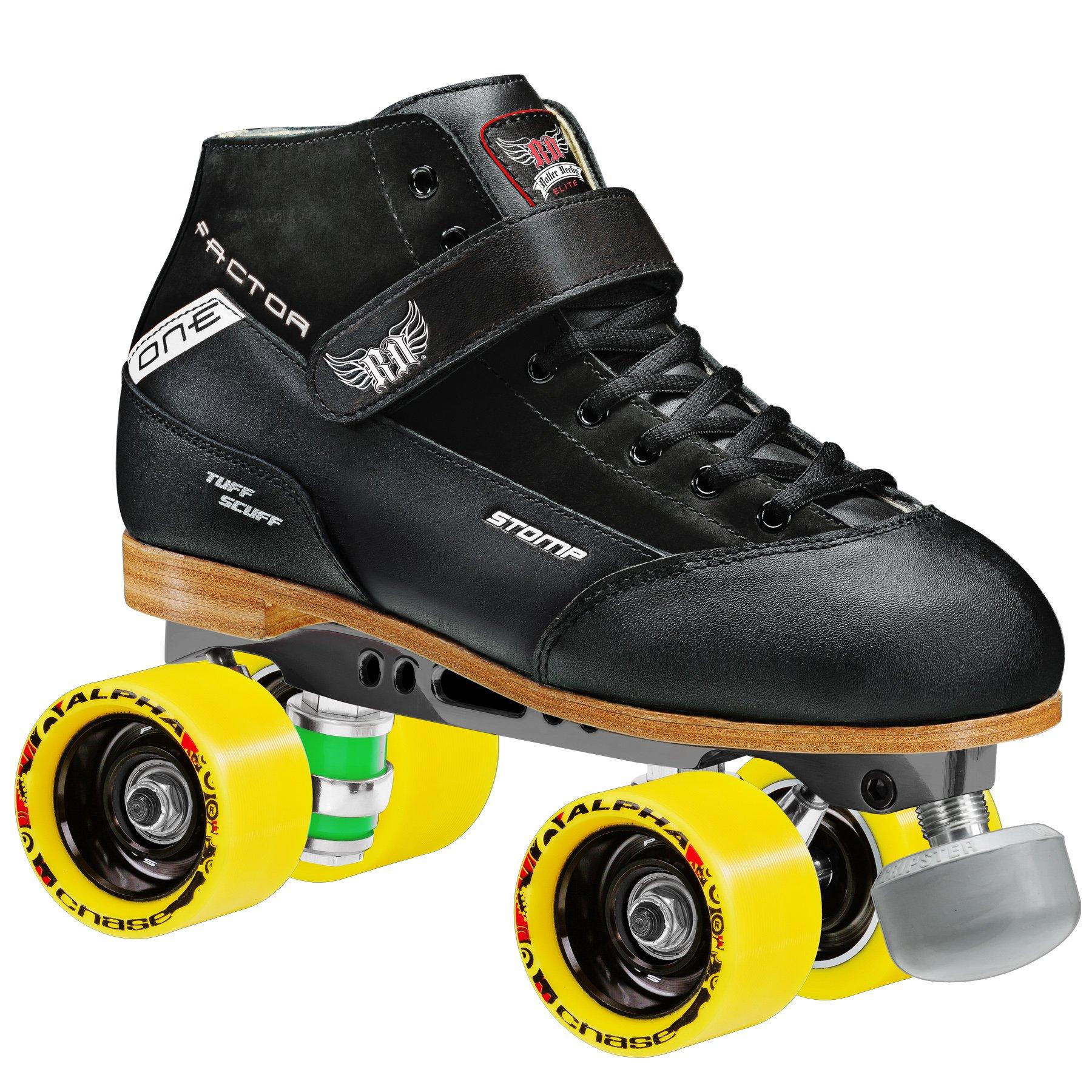 Stomp Factor-1 Derby Skates color black size 6