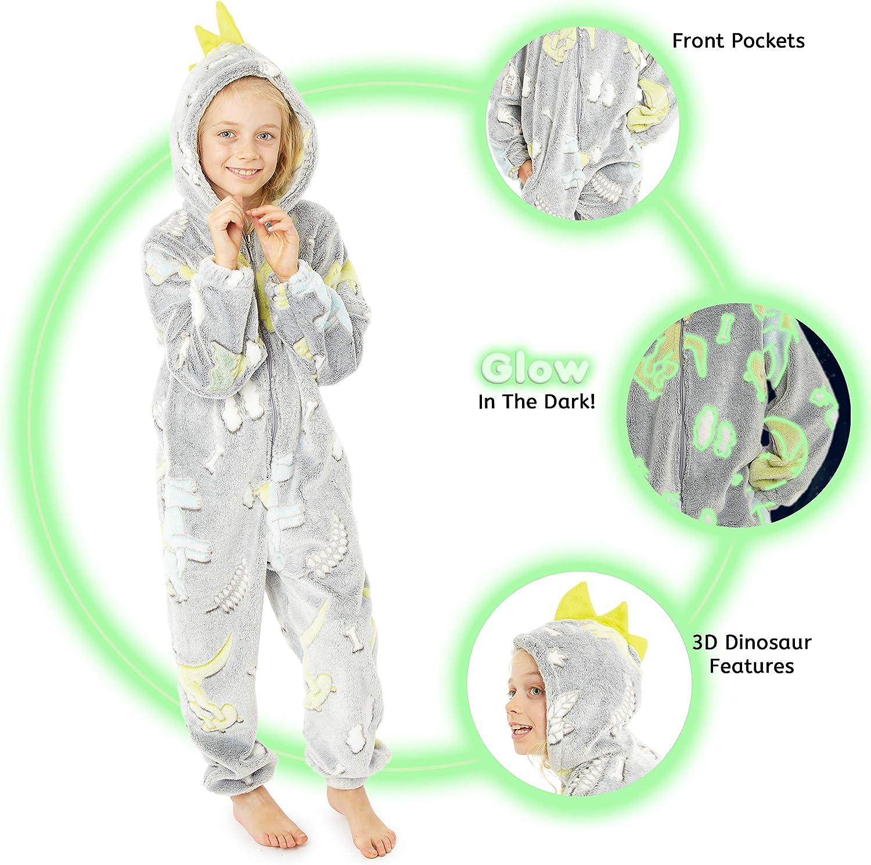 CityComfort Combinaison Pyjama Enfant D/éguisement Animal Kigurumi Cosplay Licorne Chat Lion Singe Pyjama Onesie Super Doux Confortable en Polaire